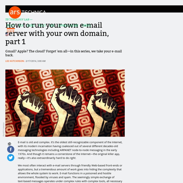 How to run your own e-mail server with your own domain, part 1