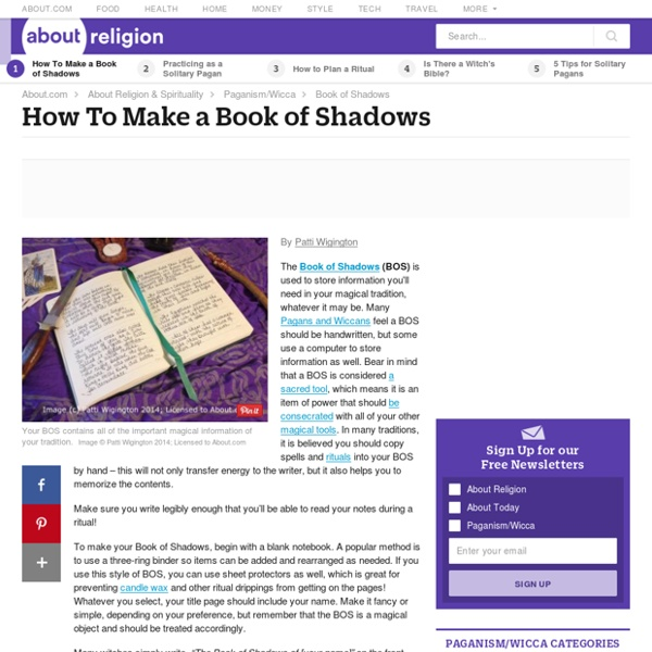 How to Make a Book of Shadows (BOS)