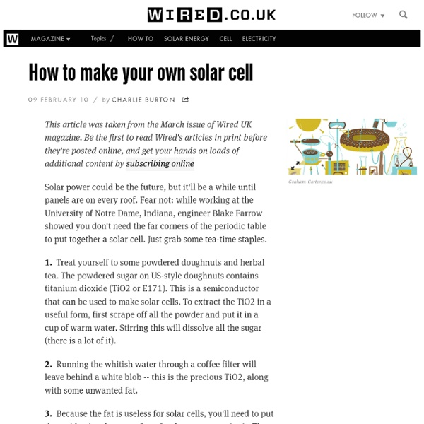 How to make your own solar cell