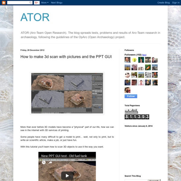 ATOR: How to make 3d scan with pictures and the PPT GUI