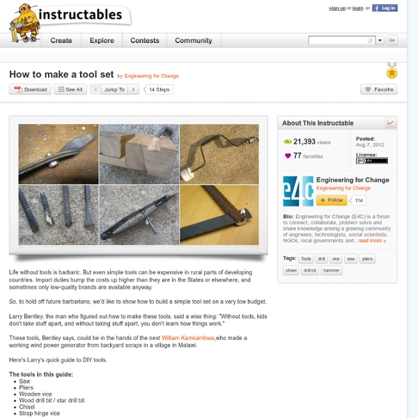 How to make a tool set
