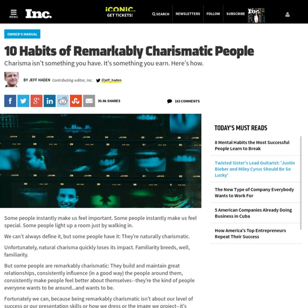 How to Be More Charismatic: 10 Tips