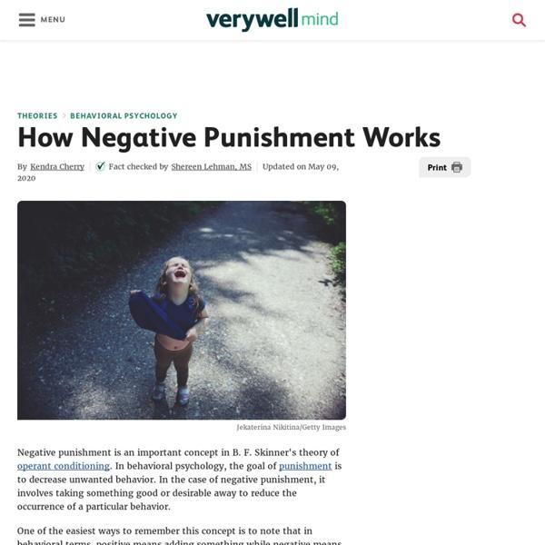 How Negative Punishment Works