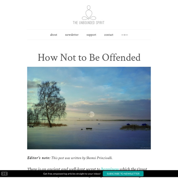 How Not to Be Offended