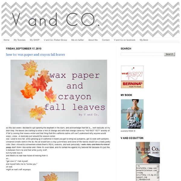 How to: wax paper and crayon fall leaves