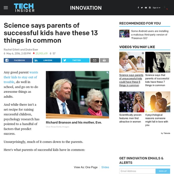 How parents set their kids up for success