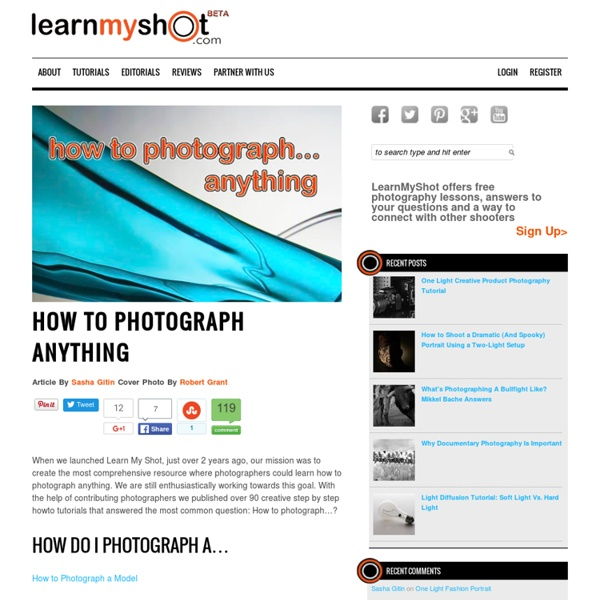 How to Photograph Anything