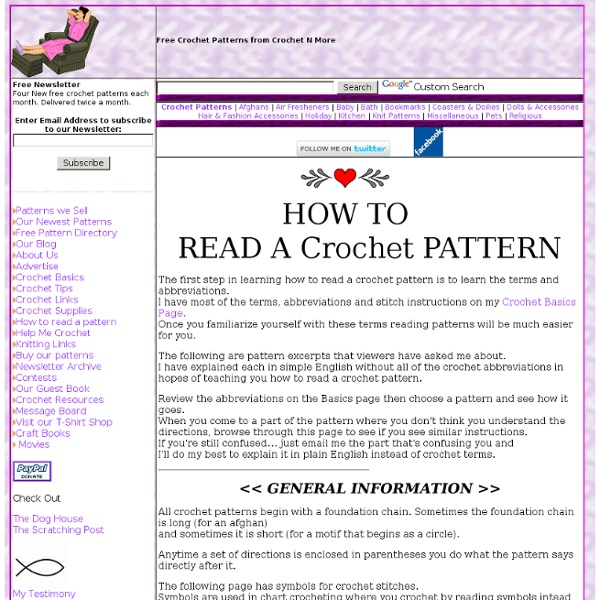 how to read a crochet pattern the first step in learning how to read a ...