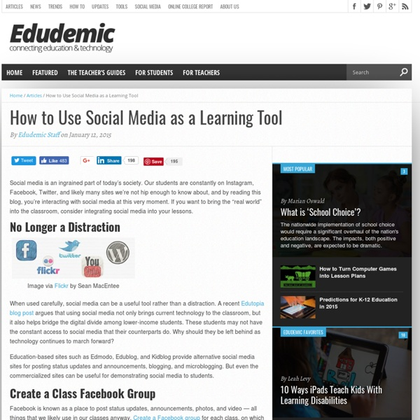 How to Use Social Media as a Learning Tool