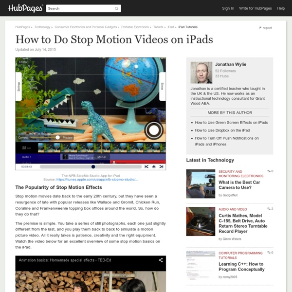 How to Do Stop Motion Videos on iPads