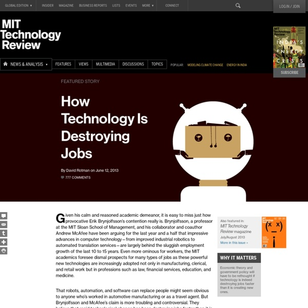 How Technology Is Destroying Jobs