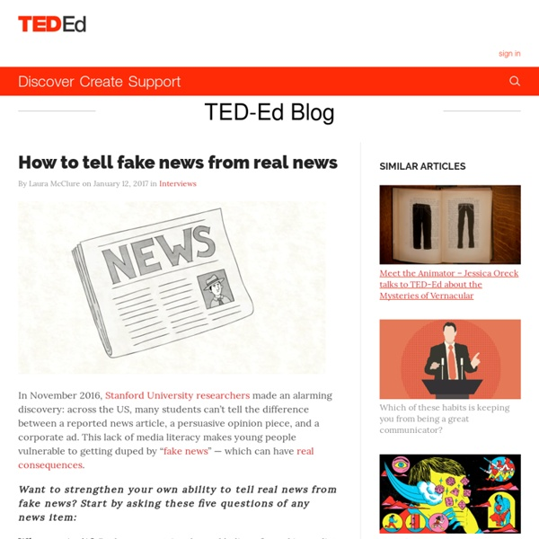 How to tell fake news from real news