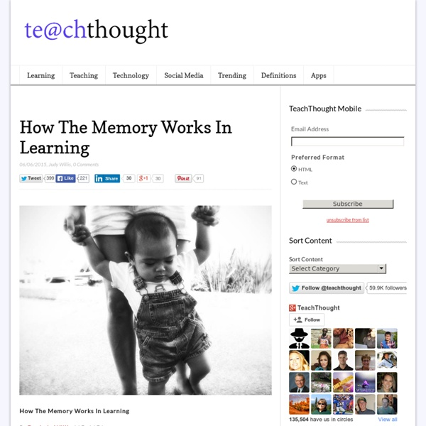 How The Memory Works In Learning
