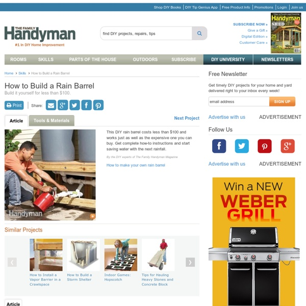 How to Build a Rain Barrel: The Family Handyman