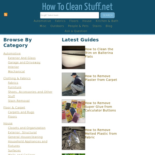 How to Clean Stuff