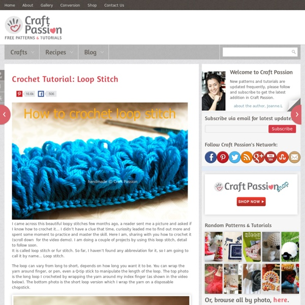 How To Crochet Loop Stitch