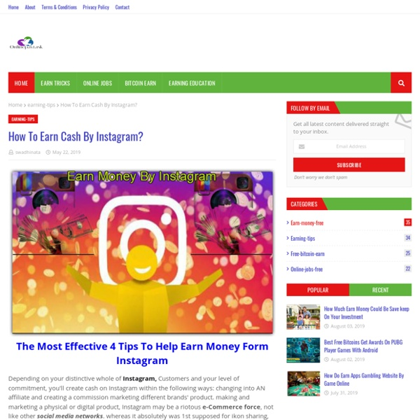 How To Earn Cash By Instagram?