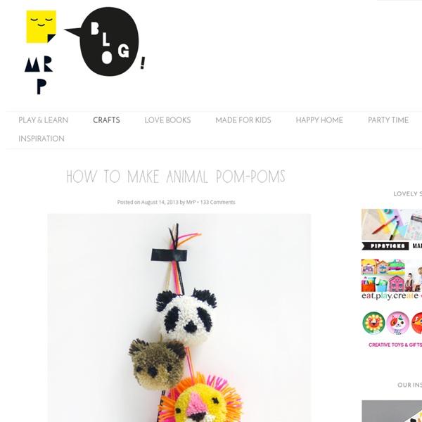How to make animal pom-poms - Mr Printables Blog