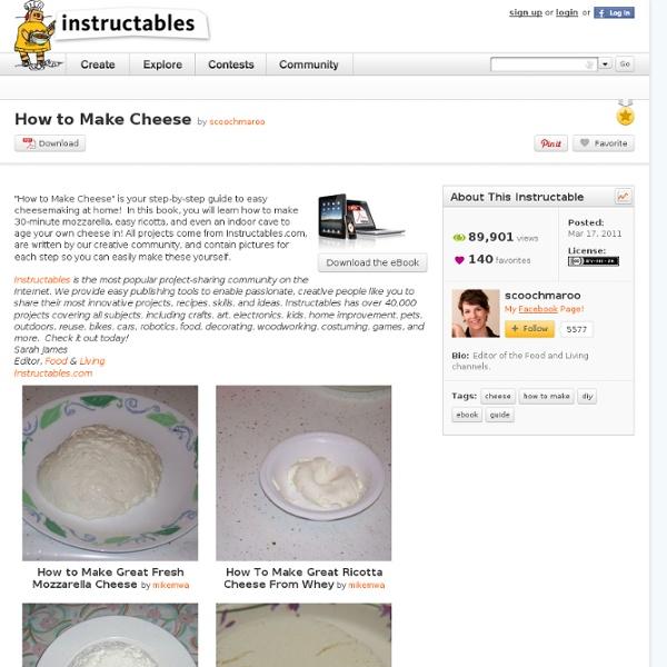 DIY: Cheesemaking Equipment: Free PDF