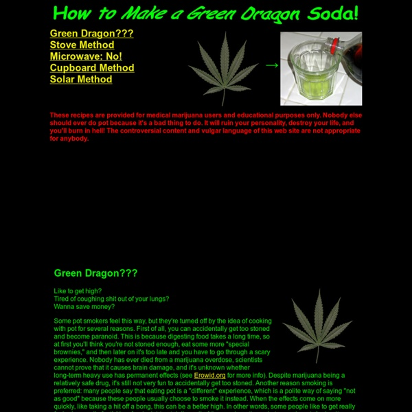 """How to Make """"Green Dragon"""""""