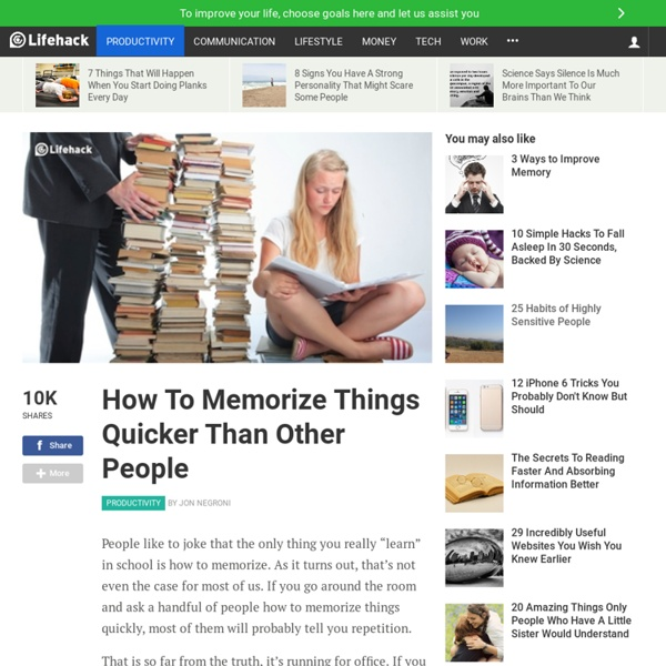 How to Memorize Things Quickly