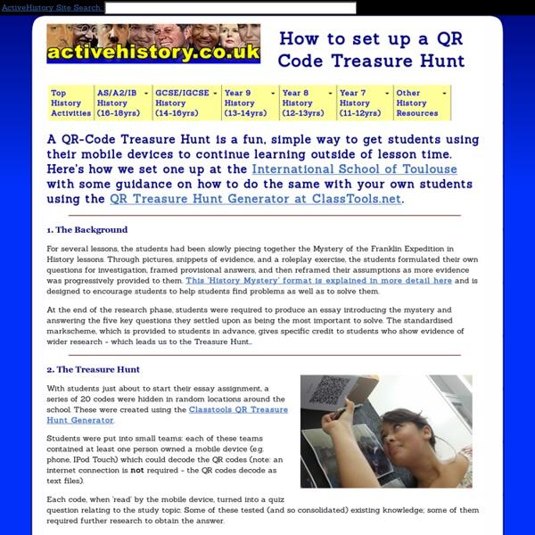 How to set up a QR Code Treasure Hunt