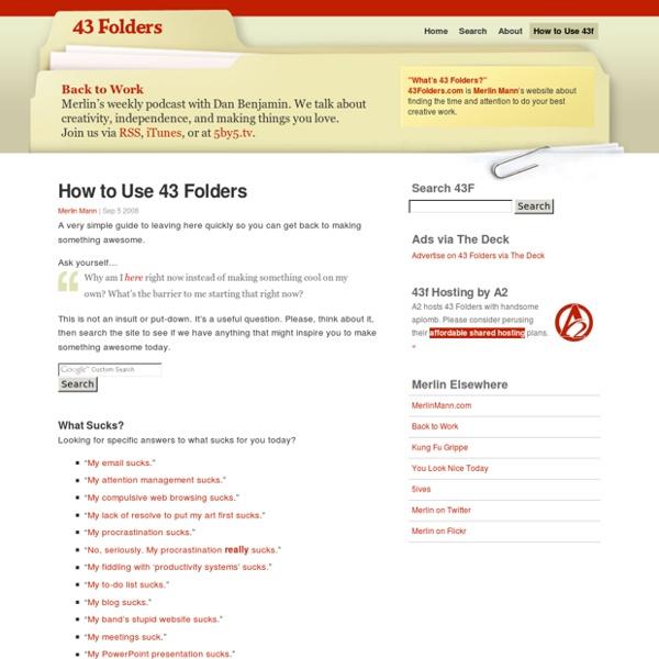 How to Use 43 Folders