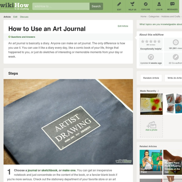 How to Use an Art Journal: 8 steps (with pictures)