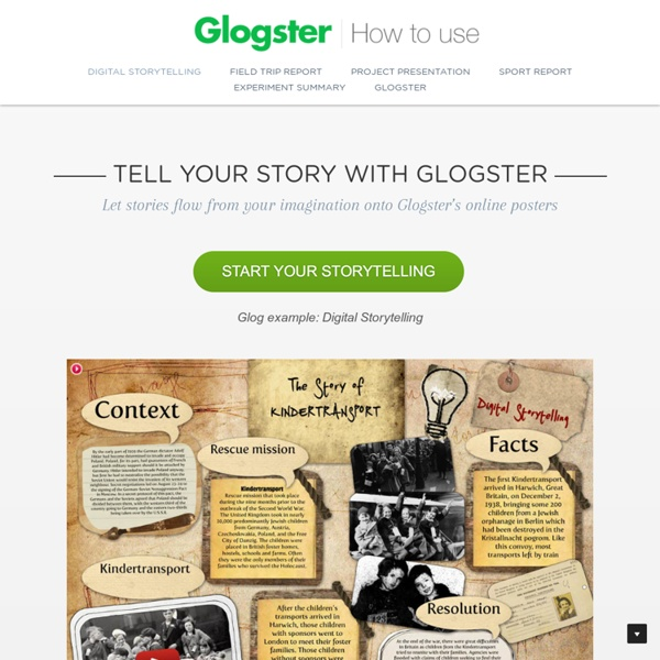 How to use Glogster - web / desktop