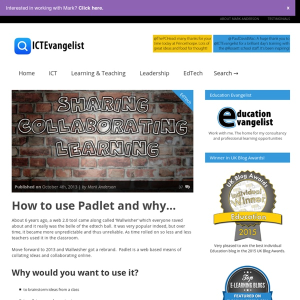 How to use Padlet (and why)