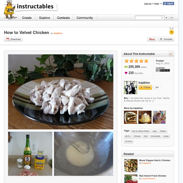 How to Velvet Chicken