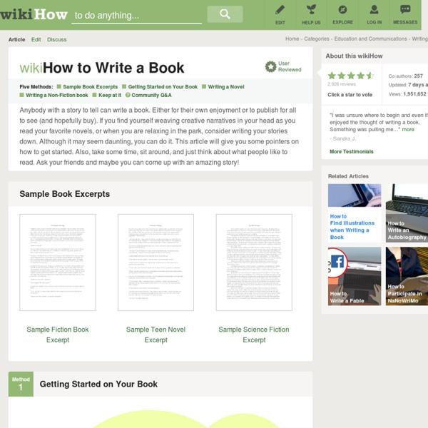 4 Ways to Write a Book