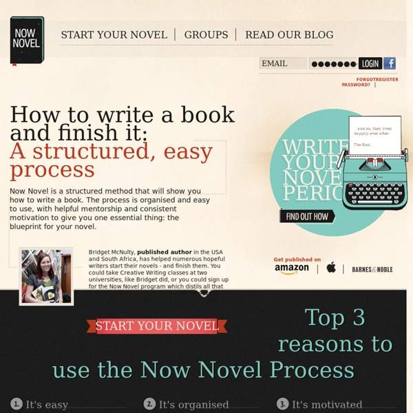How to write a book - Now Novel