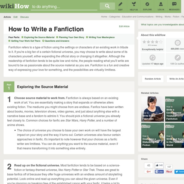 How to Write a Fanfiction: 12 Steps