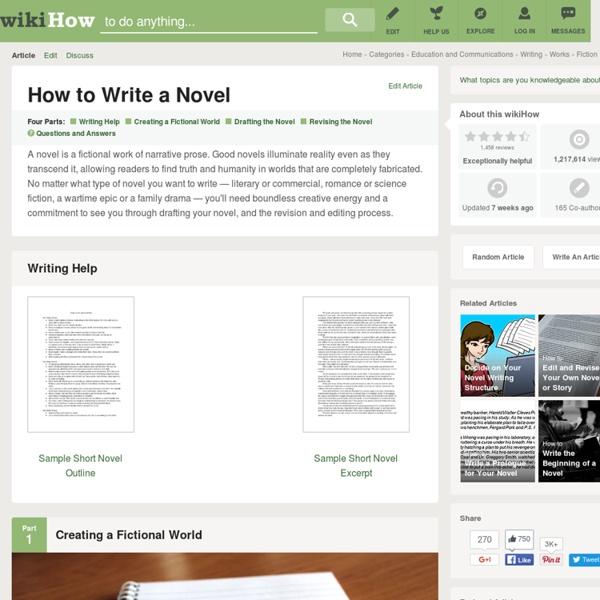 14 Tips on How to Write a Novel