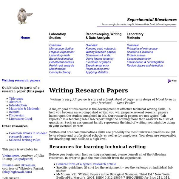 written research report