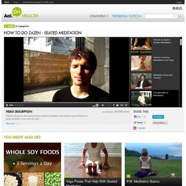 How to do Zazen - Seated Meditation Video