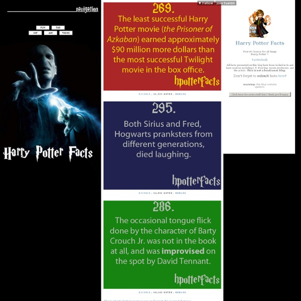Harry potter facts pearltrees