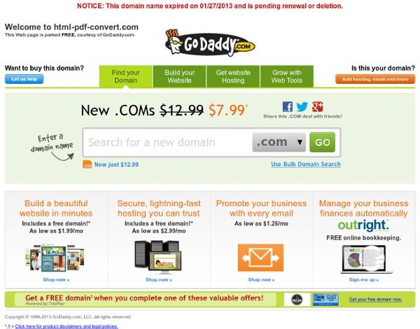 Free HTML to PDF Converter, Web to PDF Converter