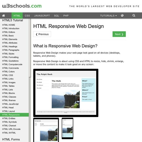 HTML Responsive Web