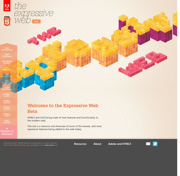 HTML5 and CSS3 - Adobe - The Expressive Web - Beta