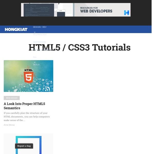 HTML5 / CSS3 Tutorials