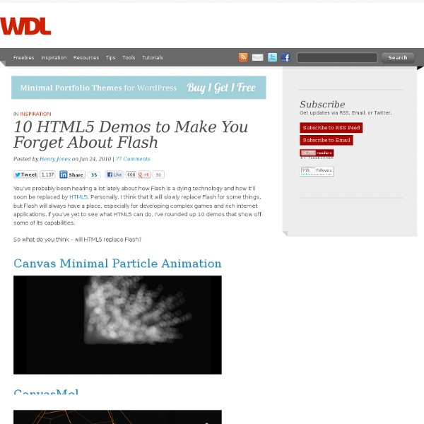 10 HTML5 Demos to Make You Forget About Flash