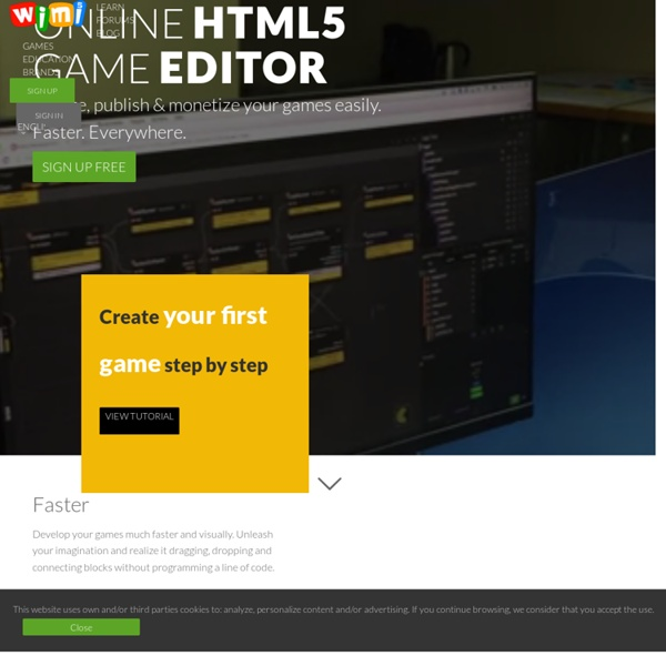 Create, Publish & Monetize HTML5 games