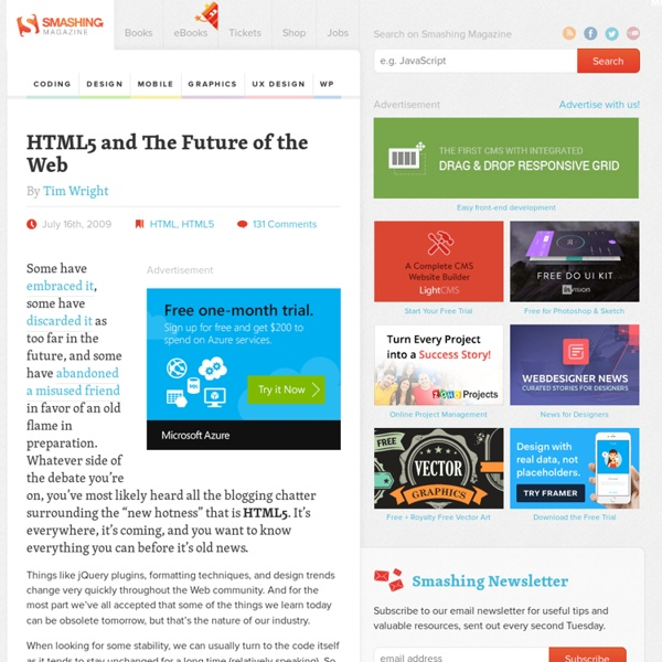 HTML5 and The Future of the Web - Smashing Coding