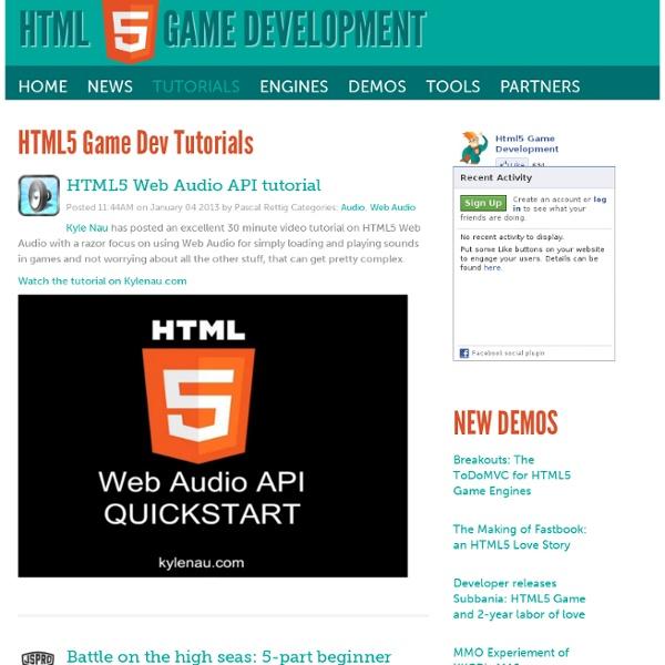 HTML5 Game Dev Tutorials