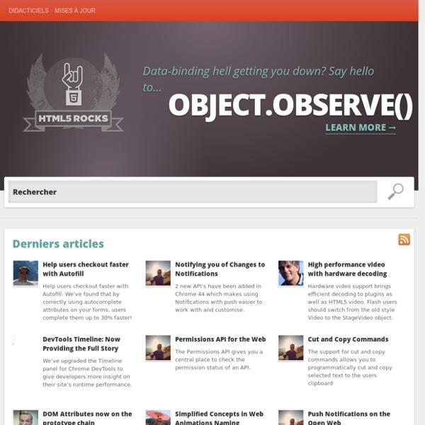 Ressources pour développeurs OpenWebHTML5