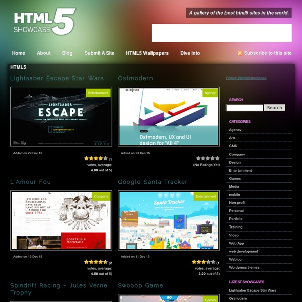 A gallery of the best html5 sites in the world.