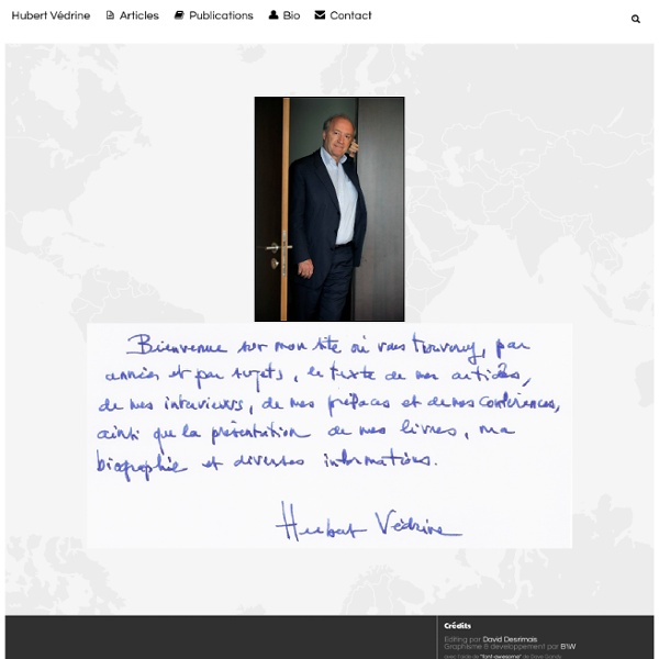 Hubert Vedrine .net