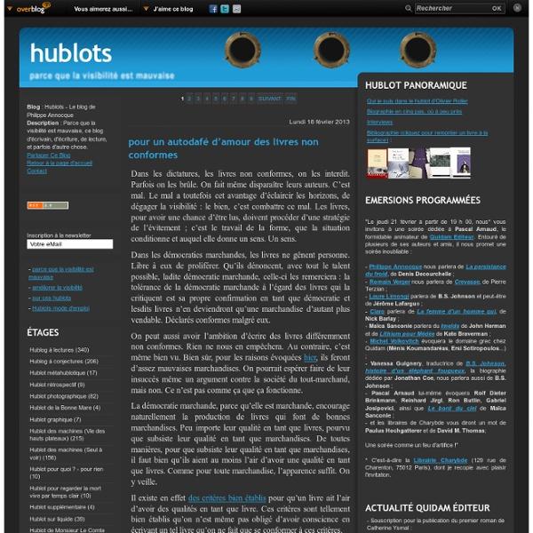 Hublots - Le blog de Philippe Annocque
